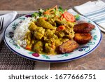 A View Of A Plate Of Curry...