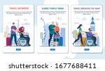 travel assistance for disabled  ... | Shutterstock .eps vector #1677688411