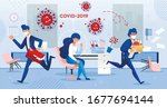coronavirus spread around... | Shutterstock .eps vector #1677694144