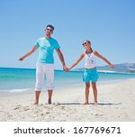 father and daughter having fun... | Shutterstock . vector #167769671