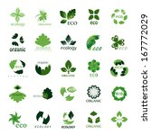 ecology icons set   isolated on ... | Shutterstock .eps vector #167772029