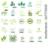 ecology icons set   isolated on ... | Shutterstock .eps vector #167772035