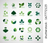 ecology icons set   isolated on ... | Shutterstock .eps vector #167772125
