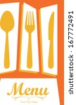 menu design over orange ... | Shutterstock .eps vector #167772491
