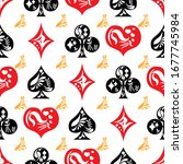 seamless pattern created by... | Shutterstock .eps vector #1677745984