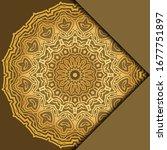 mandala background for book... | Shutterstock .eps vector #1677751897