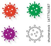 button. virus infection... | Shutterstock .eps vector #1677761587