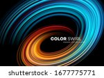 color bright swirl organic 3d... | Shutterstock .eps vector #1677775771