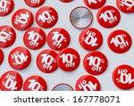 10  percent sale badges  white... | Shutterstock . vector #167778071