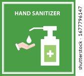 flat sign of alcohol gel  hand... | Shutterstock .eps vector #1677796147