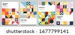 color neo geo poster. modern... | Shutterstock .eps vector #1677799141