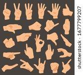 Hands Gestures. Vector...