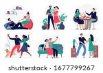 lovers spend time together.... | Shutterstock .eps vector #1677799267