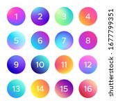 colorful gradient with number....