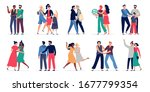 lgbt couples. romantic gay...   Shutterstock .eps vector #1677799354