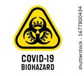 biohazard coronavirus yellow... | Shutterstock .eps vector #1677800434