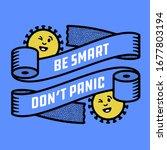 be smart don't panic. toilet... | Shutterstock .eps vector #1677803194