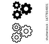 gear icon vector template ...   Shutterstock .eps vector #1677814831
