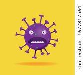 virus character  cartoon 3d... | Shutterstock .eps vector #1677817564