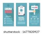 coronavirus covid 19 flyer...   Shutterstock .eps vector #1677820927
