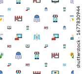commerce icons pattern seamless.... | Shutterstock .eps vector #1677830944