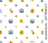 commerce icons pattern seamless.... | Shutterstock .eps vector #1677838117