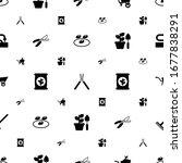 garden icons pattern seamless.... | Shutterstock .eps vector #1677838291
