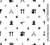 plant icons pattern seamless.... | Shutterstock .eps vector #1677840544