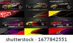 set of vehicle graphic kit...   Shutterstock .eps vector #1677842551