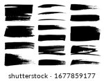 collection set of hand drawn... | Shutterstock .eps vector #1677859177