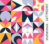 geometric trendy vector modern... | Shutterstock .eps vector #1677902407