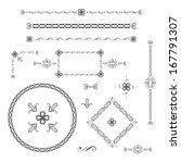 set of decoration design...   Shutterstock .eps vector #167791307