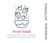 delicious berry salad  simple... | Shutterstock .eps vector #1677929014