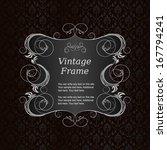 elegant vintage frame with... | Shutterstock .eps vector #167794241
