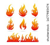 realistic fire or flame set... | Shutterstock .eps vector #1677985474