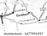 Goshen. Alabama. USA on a map