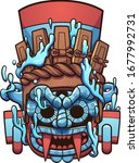 mexican prehispanic tlaloc... | Shutterstock .eps vector #1677992731
