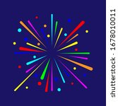 colorful fire work design... | Shutterstock .eps vector #1678010011