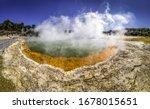 Panoramic View Of Thermal Lake...