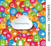 cloud computing concept | Shutterstock .eps vector #167804855