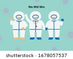 concept of teamwork of doctors... | Shutterstock .eps vector #1678057537