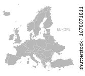 europe map vector with country... | Shutterstock .eps vector #1678071811