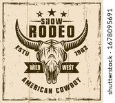 rodeo show colored vector...   Shutterstock .eps vector #1678095691