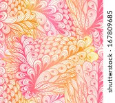 Seamless Floral Vintage Pink...