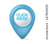 3d click here symbol isolated... | Shutterstock .eps vector #167810435
