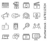 engaging content digital icons...   Shutterstock .eps vector #1678112524