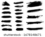 vector stroke. set of black ink ... | Shutterstock .eps vector #1678148671
