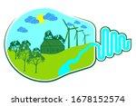 Energy Eco Green Bulb Concept....