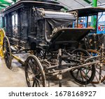 A Horse Drawn Hearse Used By...