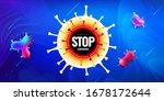coronavirus covid 19 sars cov 2 ... | Shutterstock .eps vector #1678172644